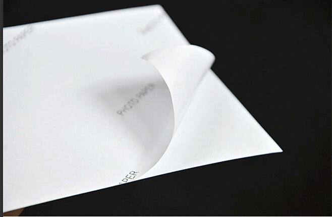 adhesive photo paper